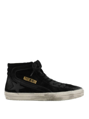 GOLDEN GOOSE: sneakers - Sneaker alte Slide in suede con effetto used