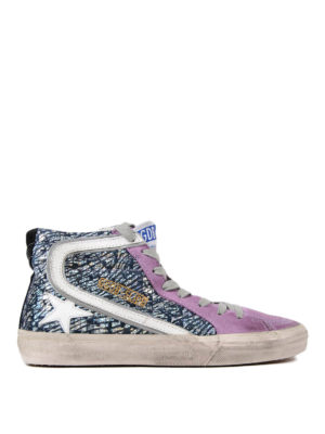 Golden Goose: trainers - Slide woven leather sneakers