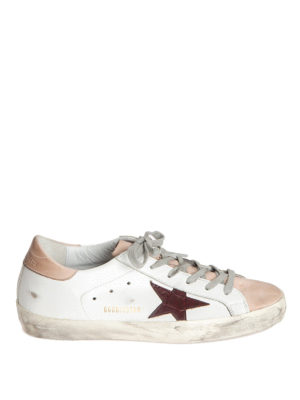 Golden Goose: trainers - SStar two-tone leather sneakers