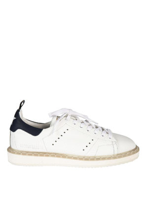 Golden Goose: trainers - Starter blue detail sneakers