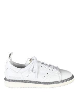 Golden Goose: trainers - Starter glitter trimmed sneakers