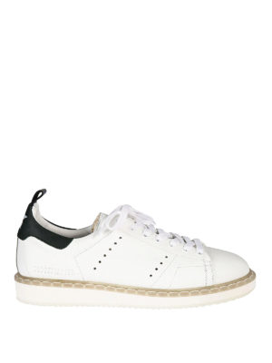 Golden Goose: trainers - Starter green detail sneakers