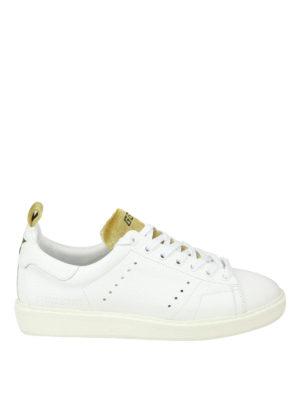 GOLDEN GOOSE: sneakers - Sneaker Starter in pelle inserti in velluto