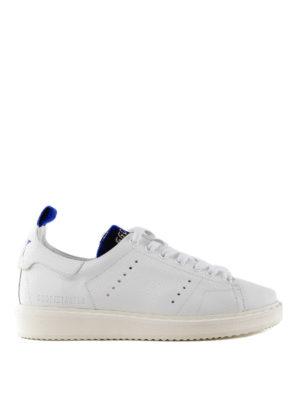 GOLDEN GOOSE: sneakers - Sneaker Starter con inserti in velluto blu