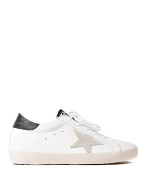 Golden Goose: trainers - Superstar black and white sneakers