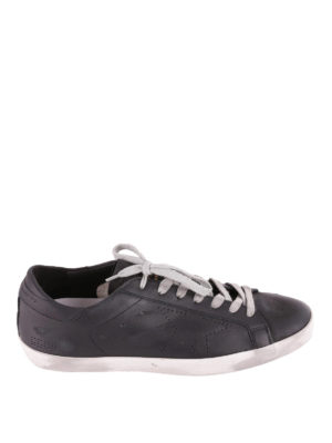 Golden Goose: trainers - Superstar black leather sneakers