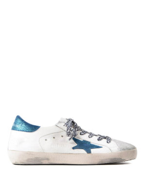 Golden Goose: trainers - Superstar blue and white sneakers