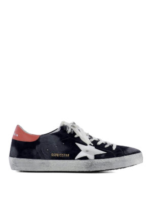 Golden Goose: trainers - Superstar blue suede sneakers