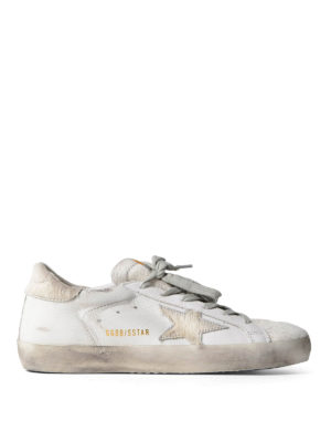 Golden Goose: trainers - Superstar calf hair detail sneakers