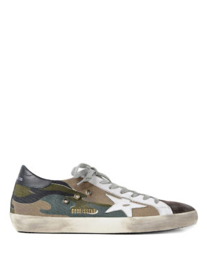 Golden Goose: trainers - Superstar camouflage print sneakers