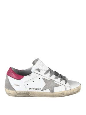 Golden Goose: trainers - Superstar contrasting heel sneakers