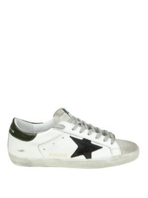 GOLDEN GOOSE: sneakers - Sneaker Superstar con stella a contrasto