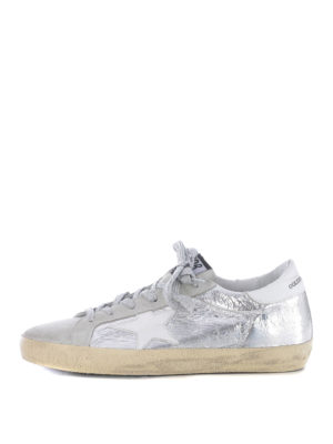 Golden Goose: trainers - Superstar crackle leather sneakers