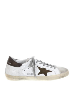 Golden Goose: trainers - Superstar creased leather sneakers