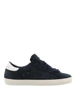 GOLDEN GOOSE: sneakers - Sneaker Superstar in nabuk blu notte