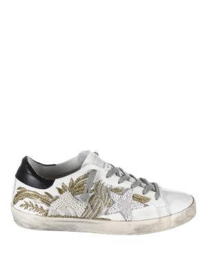 GOLDEN GOOSE: sneakers - Sneakers superstar ricamate