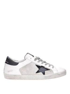 GOLDEN GOOSE: sneakers - Sneaker Superstar con dettagli in pelle