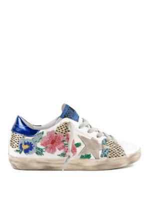 GOLDEN GOOSE: sneakers - Sneaker Superstar Flower Leo