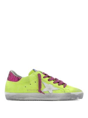 b068933b47 GOLDEN GOOSE: sneakers - Sneaker Superstar giallo fluo