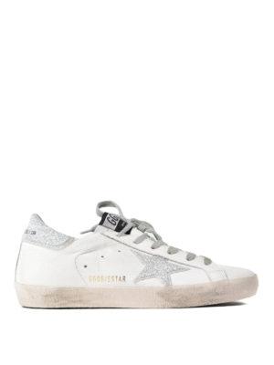 Golden Goose: trainers - Superstar glitter detail sneakers