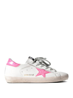 Golden Goose: trainers - Superstar glossy detailed sneakers
