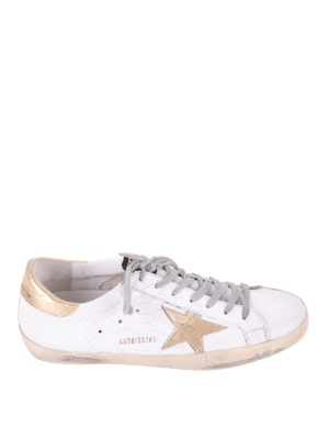 Golden Goose: trainers - Superstar gold and croco sneakers