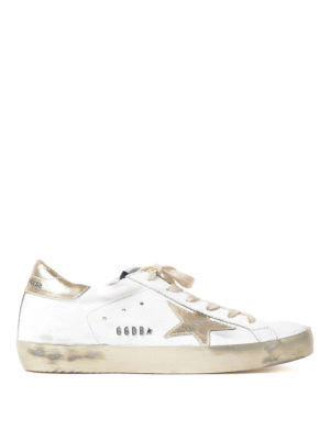 Golden Goose: trainers - Superstar gold star leather sneaker