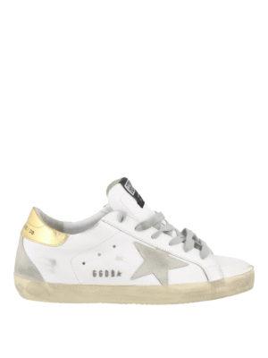 GOLDEN GOOSE: sneakers - Sneaker Superstar con suola in gomma dorata