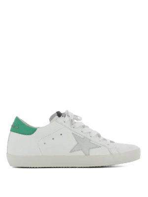 GOLDEN GOOSE: sneakers - Sneaker Superstar talloncino verde
