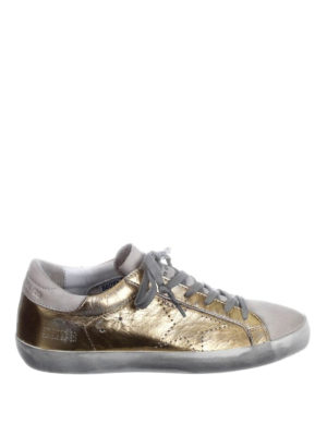 Golden Goose: trainers - Superstar laminated gold sneakers