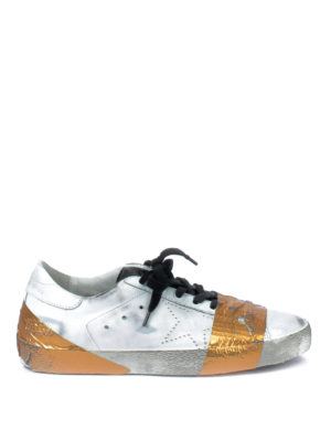 Golden Goose: trainers - Superstar laminated tape sneakers