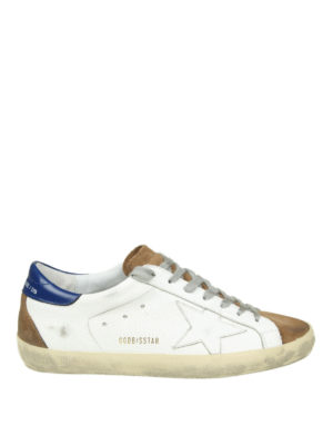 GOLDEN GOOSE: sneakers - Sneaker Superstar in pelle e camoscio