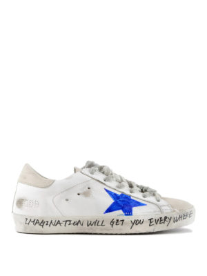GOLDEN GOOSE: sneakers - Sneaker Superstar con stampa pennarello