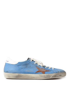 Golden Goose: trainers - Superstar light blue sneakers