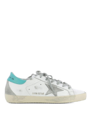 Golden Goose: trainers - Superstar logo and patch sneakers