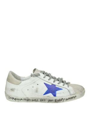 GOLDEN GOOSE: sneakers - Superstar con stella effetto pennarello