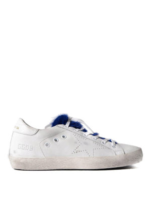 Golden Goose: trainers - Superstar mink fur sneakers