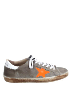 Golden Goose: trainers - Superstar orange star sneakers