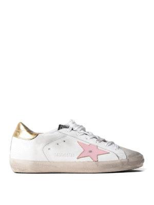 Golden Goose: trainers - Superstar pink star sneakers