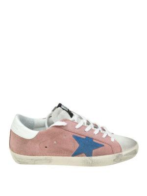 Golden Goose: trainers - Superstar pink suede sneakers