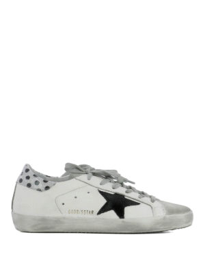Golden Goose: trainers - Superstar polka dot detail sneakers