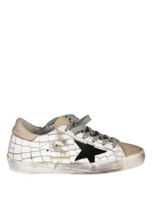 GOLDEN GOOSE: sneakers - Sneaker Superstar in pelle stampata