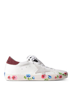 Golden Goose: trainers - Superstar printed sole sneakers