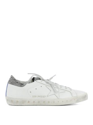 Golden Goose: trainers - Superstar rear silver insert shoes