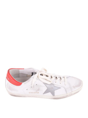 Golden Goose: trainers - Superstar red detail sneakers