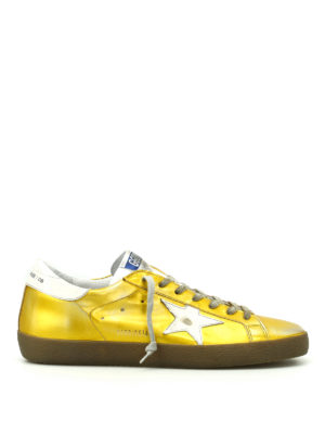 Golden Goose: trainers - Superstar shiny leather sneakers