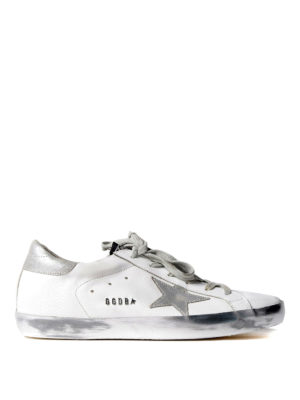 Golden Goose: trainers - Superstar silver star sneakers