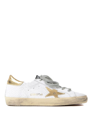 Golden Goose: trainers - Superstar snake print sneakers