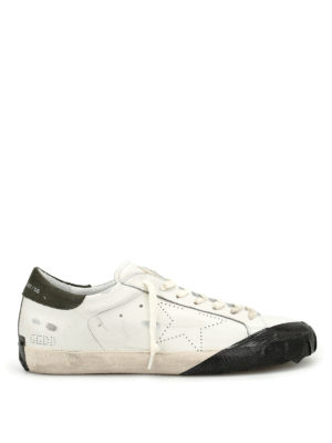 Golden Goose: trainers - Superstar sneaker with black scotch