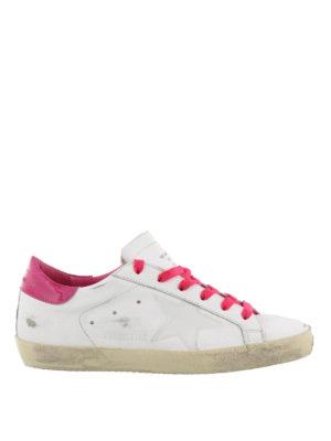 GOLDEN GOOSE: sneakers - Sneaker Superstar con tallone in vernice